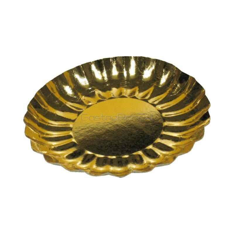 Pappteller rund 21 cm gold 55 83 for Pappteller gold